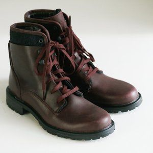 Merrell Burgundy Ox Blood Leather Lace up Boots